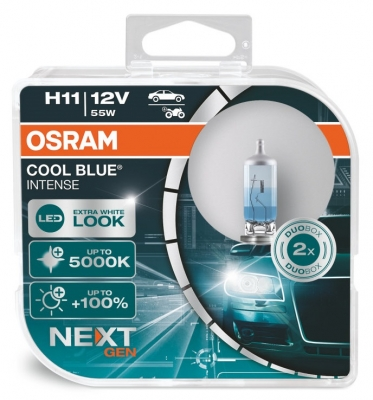 OSRAM Cool Blue NEXT GEN H11 +100% Lampen Xenon Look 55W Duo-Box