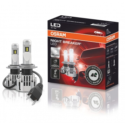 OSRAM NIGHT BREAKER LED H7 220% Set VW Polo AW ab Bj 2017