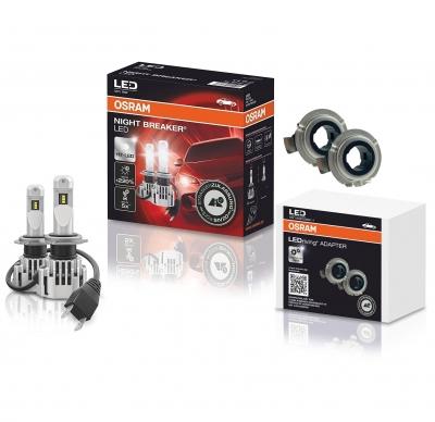 OSRAM NIGHT BREAKER H7 LED 220% Set für VW Crafter 2016+ mit Adapter 64210DWNB DA01