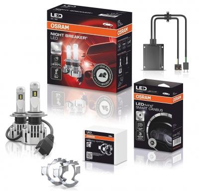 OSRAM NIGHT BREAKER H7 LED 220% Set für Opel Astra J mit Adapter + Canbus