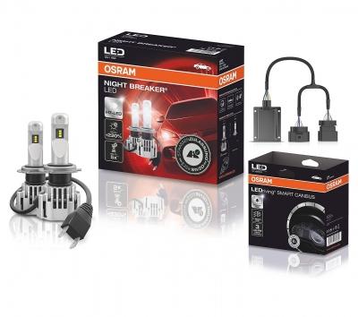 OSRAM NIGHT BREAKER H7 LED 220% Set für Audi A3 8P 03-08 + Canbus SC02 64210DWNB