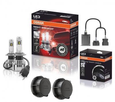 OSRAM NIGHT BREAKER H7 LED 220% Set für VW Passat 3C B7 10-14 SC02/CAP01