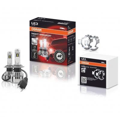 OSRAM NIGHT BREAKER H7 LED 220% Set für BMW F30 F31 F80 15-19 mit Adapter DA01