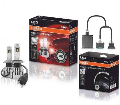 OSRAM NIGHT BREAKER H7 LED 220% Set für BMW F30 F31 F80 15-19 mit Canbus SC03