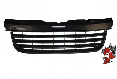 Frontgrill ohne Emblem VW T5 Multivan 03-09 schwarz Halbmond