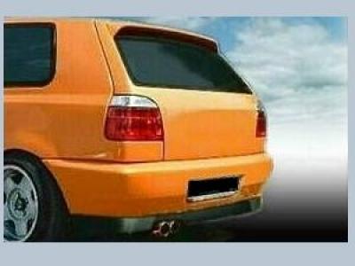 Heckschürze VW Golf 3 Clean mit Kennzeichen