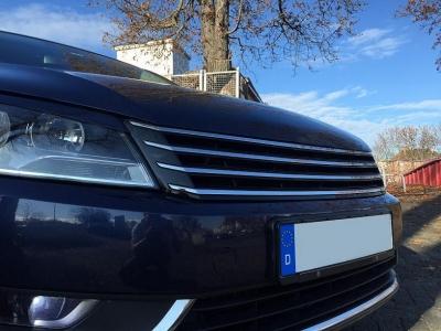 Frontgrill ohne Emblem VW Passat 3C B7 2010-2014 schwarz chrom