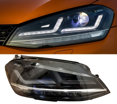 OSRAM LEDriving Scheinwerfer VW GOLF 7 13-17 sw chrom für Xenon