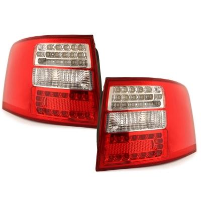 LED Rückleuchten rot klar Audi A6 Avant 4B 97-05
