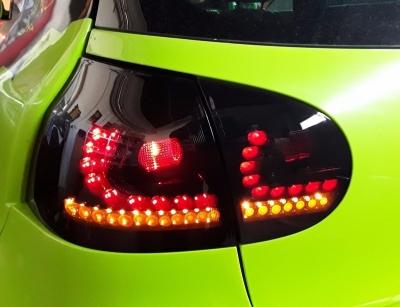 LED Rückleuchten VW Golf 5 03-09 schwarz DYNAMISCHER LED BLINKER