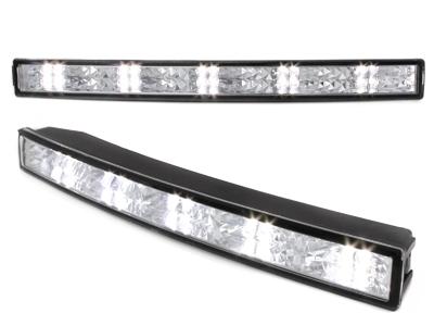 LITEC LED Tagfahrlicht 20 LEDs Tagfahrleuchten chrom 31cm