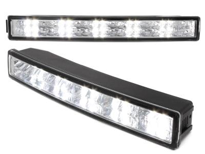 LITEC LED Tagfahrlicht 20 LEDs Tagfahrleuchten chrom 23cm