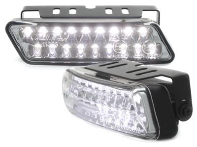 LED Tagfahrleuchten Tagfahrlicht 10cm 18 LEDs Dimmfunktion