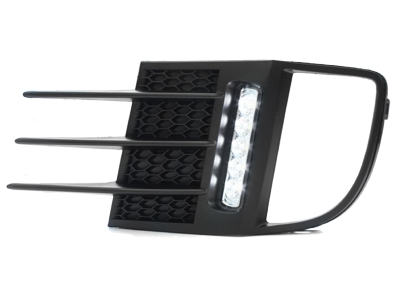 LED Tagfahrlicht VW Golf 6 VI GTI 09+ mit NSW chrom inkl. Blende