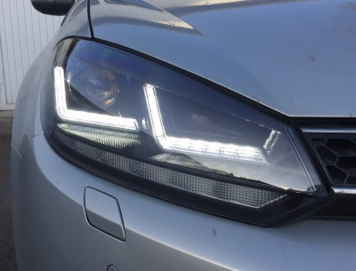 OSRAM XENARC Xenon Tagfahrlicht Scheinwerfer schwarz VW GOLF 6 für HALOGEN