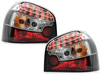 LED Rückleuchten Audi A3 8L 09.96-04 schwarz Klarglas