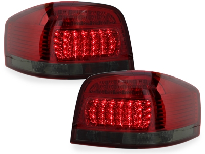 LED Rückleuchten Audi A3 8P 03-09 red/smoke dunkelrot Depo
