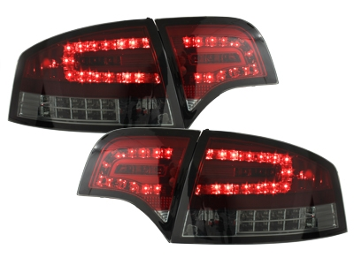 LED Rückleuchten Audi A4 B7 Limo 04-08 LED BLINKER red/smoke