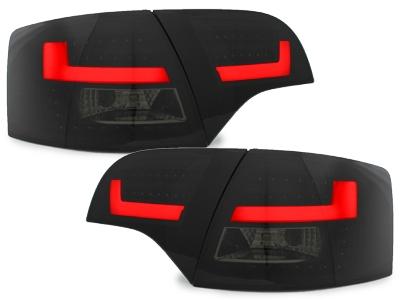 LITEC LED Rückleuchten schwarz Audi A4 B7 Avant 04-08