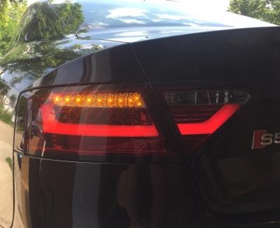 LED Rückleuchten Audi A5 8T 8F 07-11 rot-rauch Halogen-Serie