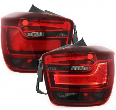 Lightbar LED Rückleuchten BMW 1er F20 F21 10-01/15 rot-rauch
