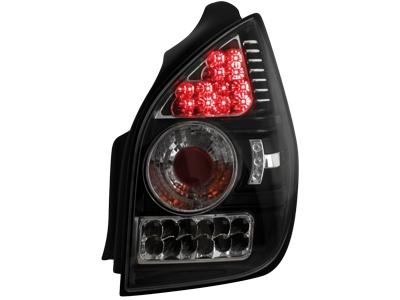 LED Rückleuchten Citroen C2 02-05 schwarz Klarglas