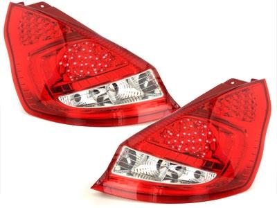 LED Rückleuchten Ford Fiesta MK 7 08-12 red/crystal rot Depo
