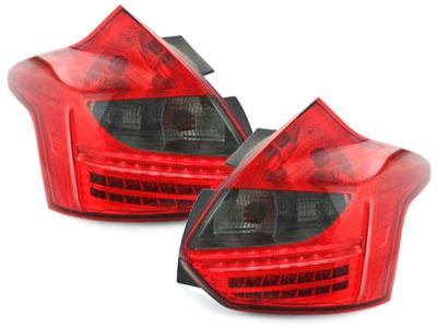 LED Rückleuchten Ford Focus MK3 2011-08/2014 rot rauch DEPO