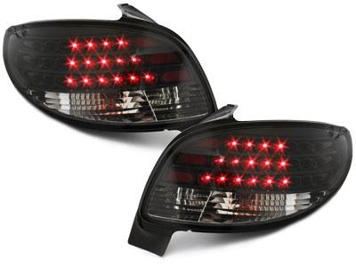 LED Rückleuchten Peugeot 206 98-09 schwarz-klar