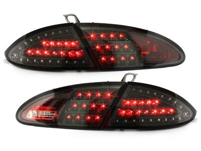 LITEC LED Rückleuchten Seat Leon 05-09 1P schwarz-Klarglas