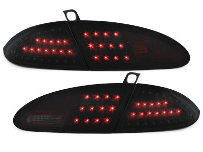 LITEC LED Rückleuchten Seat Leon 05-09 1P black tiefschwarz