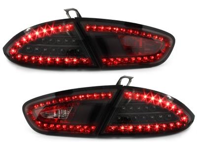 LITEC LED Rückleuchten Seat Leon 09-12 1P1 schwarz Klarglas