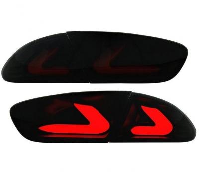 carDNA LED Rückleuchten Seat Leon 09-12 1P1 black/smoke schwarz