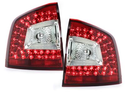 LITEC LED Rückleuchten Skoda Octavia 1Z Kombi 2011+ red/crystal