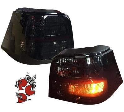 Rückleuchten VW Golf IV 97-04 schwarz inkl. Leuchtmitteln