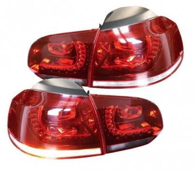 LED Rückleuchten VW Golf VI 6 08-12 red/crystal GTI-Look rot