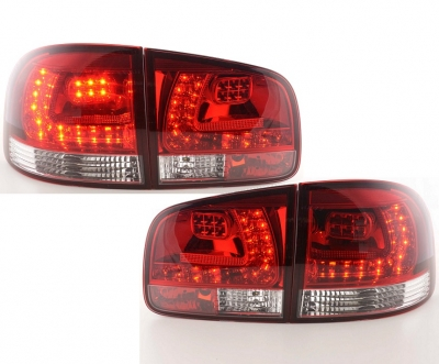 LED Rückleuchten VW Touareg 02-10 rot-Chrom Klarglas