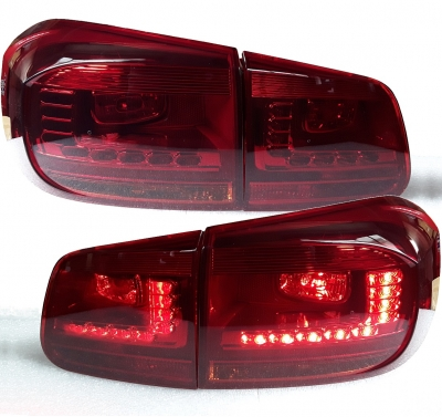 LED Rückleuchten VW Tiguan 5N Facelift 11+ red/smoke rot/rauch