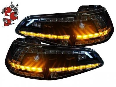 LED Rückleuchten Golf 7 2013+ schwarz/rauch GTI/R-Look Depo