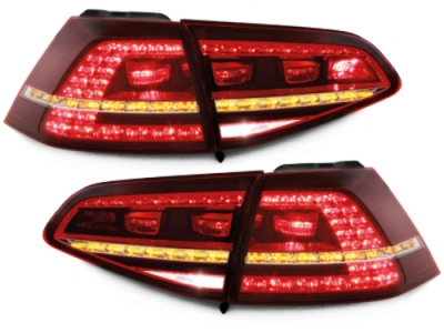 LED Rückleuchten Golf 7 2013+ rot-klar GTI/R-Look Depo