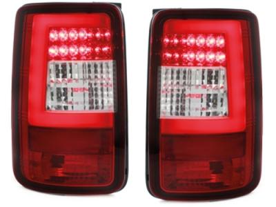 LED Rückleuchten VW Caddy Bj. 03-15 rot-chrom FLÜGELTÜRER