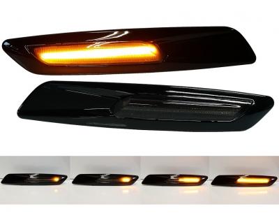 dynamische LED Seitenblinker schwarz LAUFBLINKER BMW 1er 3er 5er