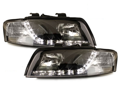 LED TAGFAHRLICHT Scheinwerfer AUDI A4 8E 01-04 black schwarz