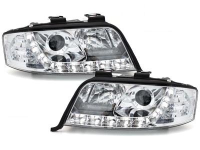 LED TAGFAHRLICHT Scheinwerfer AUDI A6 4B C5 Facelift 01-04 chrom