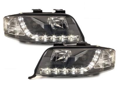 LED TAGFAHRLICHT Scheinwerfer AUDI A6 4B 97-01 black schwarz