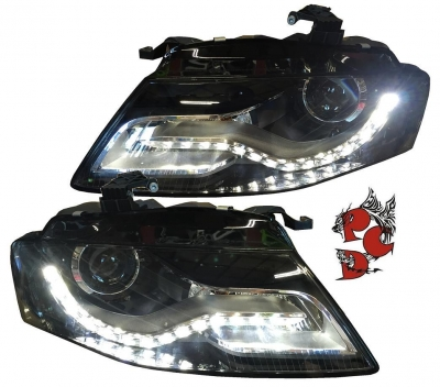 LED TAGFAHRLICHT Scheinwerfer AUDI A4 B8 8K 08-11 schwarz