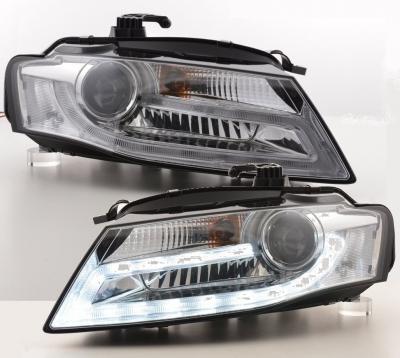 LIGHTBAR TAGFAHRLICHT Scheinwerfer Audi A4 B8 8K 08-11 chrom