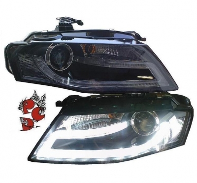 LIGHTBAR TAGFAHRLICHT Scheinwerfer Audi A4 B8 8K 08-11 schwarz