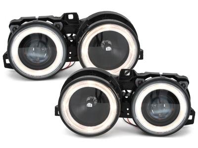 Angel Eyes Scheinwerfer BMW 3er E30 82-94 schwarz