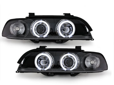 CCFL Angel Eyes Scheinwerfer BMW E39 5er 95-00 schwarz